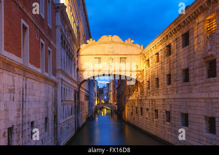 Bridge of Sighs or Ponte dei Sospiri in Venice - Stock Photo