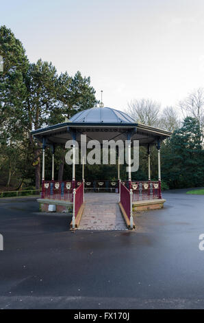 The Bandstand at Barnes Park, Sunderland, designed and built by  W. A. Baker and Son, Newport, Monmouthshire. - Stock Photo