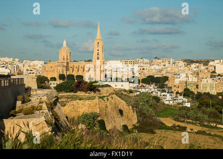Lourdes Chapel in Mgarr on Gozo, Malta. - Stock Photo