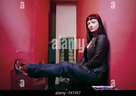 Lynne Ramsay, award winning film director. London. 1999 - Stock Photo