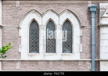 PORT ELIZABETH, SOUTH AFRICA - FEBRUARY 27, 2016: Windows in the Cathedral Church of St Mary the Virgin in Port - Stock Photo