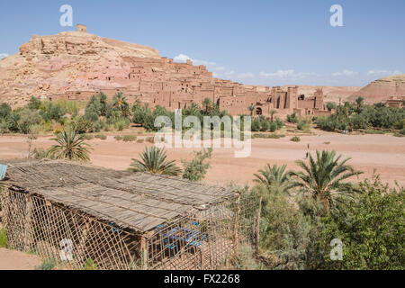 Beautiful view on ancient kasbah Ait ben Haddou in Morocco - Stock Photo