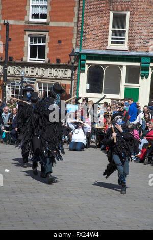 Boggart's Breakfeast Dancing Group Stockport Folk Festival  2015 Stockport Cheshire England - Stock Photo