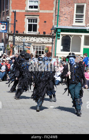 Boggart's Breakfeast Dancing Group Stockport Folk Festival  2015 Stockport Cheshire England - Stock Photo
