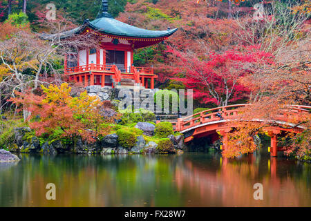 Kyoto, Japan at Daigo-ji Temple in autumn. Stock Photo