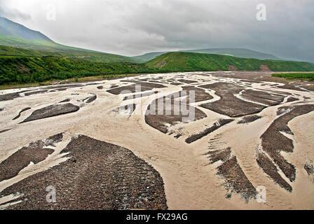 Tolkat river, Denali National Park,  Alaska, USA - Stock Photo