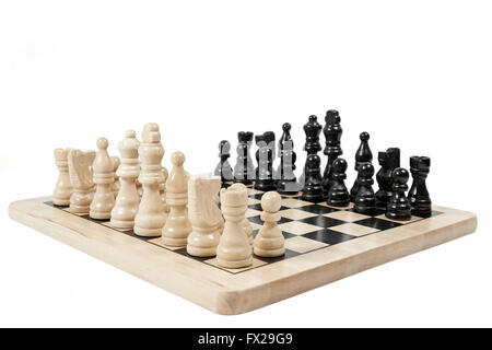 Chess game isolated on white - Stock Photo