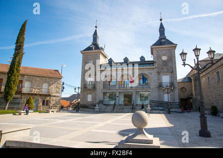 Facade of the Town hall. Alpedrete, Madrid province, Spain. - Stock Photo