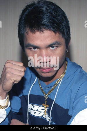File. 9th Apr, 2016. MANNY PACQUIAO (58-6-2) retires after beating Timothy Bradley by unanimous decision. The Filipino - Stock Photo
