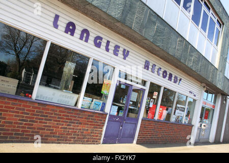 West Molesey, Surrey, England, UK. 10th April 2016. Langley Records is to close following approval of a Royal Mail - Stock Photo