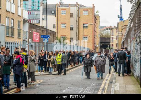 London, United Kingdom - April 09, 2016: The London Coffee Festival (07-10 April, Brick Lane, Old Truman Brewery). - Stock Photo