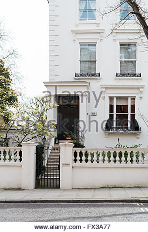 Elegant Period Townhouse, London Notting Hill - Stock Photo