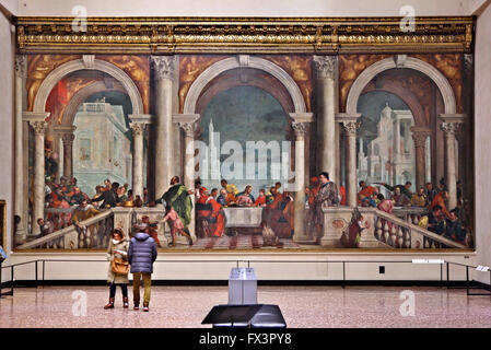 Painting The Last Supper in a museum, Musee Du Louvre ...