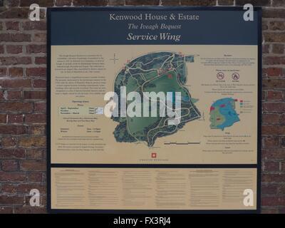 park, parks, Kenwood House, Hampstead, West Hampstead - Stock Photo