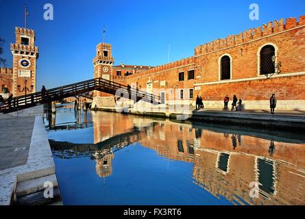 The Arsenale (shipyards), Sestiere di Castello, Venezia (Venice), Italy. - Stock Photo