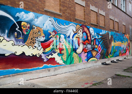 United states illinois chicago the mexican district for Mural in chicago illinois