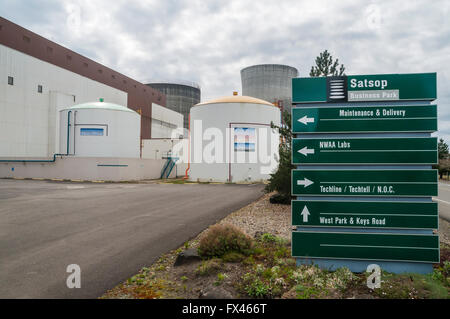 Directions signs at Satsop Development Park in Western Washington State. - Stock Photo