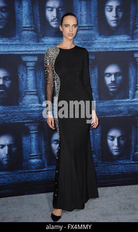 Los Angeles, CA, USA. 10th Apr, 2016. Masha Rudenko at arrivals for GAME OF THRONES Season 6 Premiere, The Dolby - Stock Photo