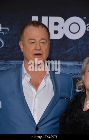 Los Angeles, California, USA. 10th April, 2016. Actor Owen Teale at the season 6 premiere of Game of Thrones at - Stock Photo