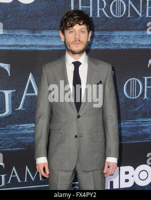 Hollywood, CA, USA. 10th Apr, 2016. Iwan Rheon. Arrivals for the Premiere Of HBO's ''Game Of Thrones'' Season 6 - Stock Photo