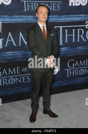 Hollywood, CA, USA. 10th Apr, 2016. Alfie Allen. Arrivals for the Premiere Of HBO's ''Game Of Thrones'' Season 6 - Stock Photo