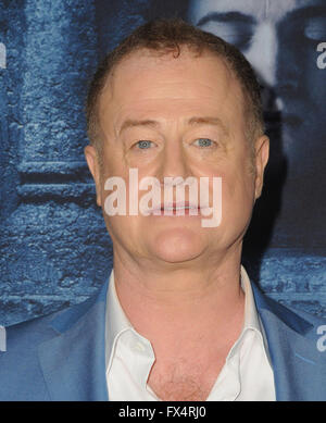 Hollywood, CA, USA. 10th Apr, 2016. 10 April 2016 - Hollywood, California - Owen Teale. Arrivals for the Premiere - Stock Photo