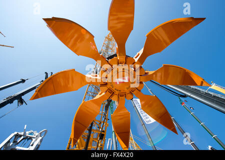 Munich, Germany. 11th Apr, 2016. An orange-peel grab by the company Negrini pictured at the building fair Bauma - Stock Photo