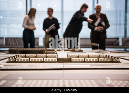 A model of the Reichs party conference grounds can be seen during a preview of the exhibition 'Marschordnungen. - Stock Photo