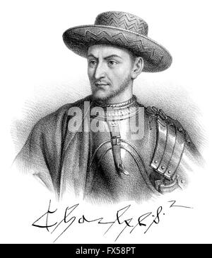 Charles VII, Karl VII., 1403-1461, called the Victorious, King of France - Stock Photo