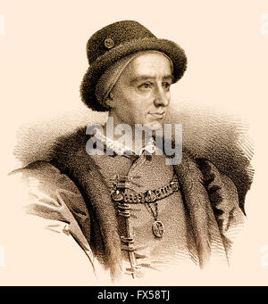 Louis XI, Ludwig XI., 1423-1483, called the Prudent, King of France - Stock Photo