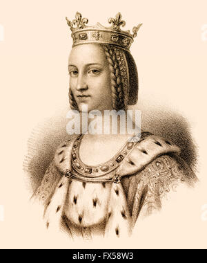 Charlotte of Savoy, Charlotte de Savoie, 1441-1483, queen of France as the second wife of Louis XI. - Stock Photo