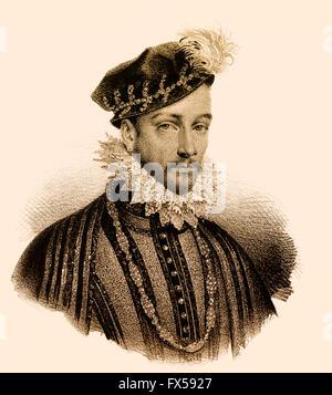 Charles IX, Karl IX., 1550-1574, King of France - Stock Photo