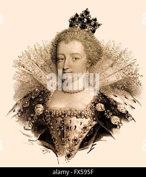 Marie de' Medici, Marie de Médicis, Maria de' Medici, 1575-1642, Queen of France as the second wife of King Henry - Stock Photo