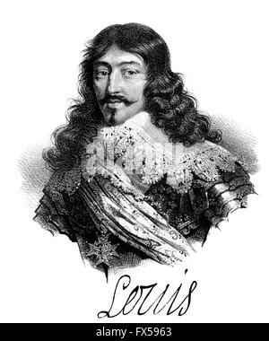 Louis XIII, Louis le Juste, Ludwig XIII., 1601-1643, King of France and King of Navarre as Louis II - Stock Photo