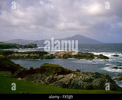 Clare Island from Achill Island , County Mayo, West Coast of Ireland - Stock Photo