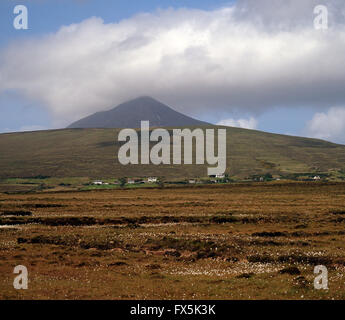 Peat bogs of Achill Islland, County Mayo, West coast of Ireland - Stock Photo
