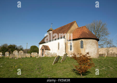 Church of St Mary in Upwaltham West Sussex. A 12th Century English church set in a rural location. - Stock Photo