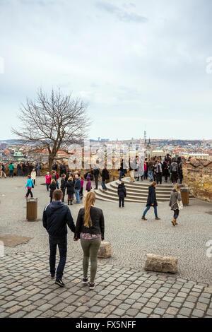 view from prague castle, eastern gate, Prague Castle, Czech republic - Stock Photo