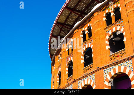 arenas de barcelona, old bullfighting arena - Stock Photo