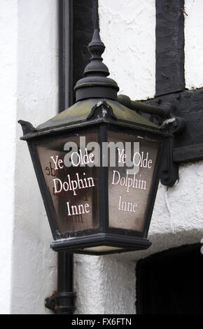 Ye Olde Dolphin Inne at Derby - Stock Photo