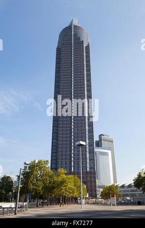MesseTurm, Frankfurt am Main, Hesse, Germany - Stock Photo