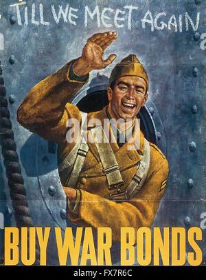 - World War II - U.S propaganda Poster - Stock Photo