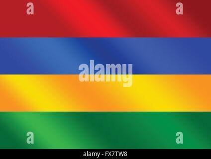flag of Mauritius themes idea design - Stock Photo