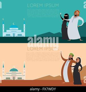 Set of Muslim banner2 - Stock Photo