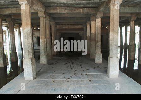 Underground Shiva Temple, Sacred Center. Hampi, Karnataka, India. - Stock Photo