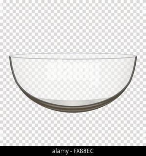 transparent glass bowl - Stock Photo