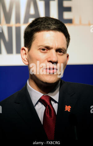 David Miliband, British Labour Party politician, at Labour Party conference in 2010 - Stock Photo
