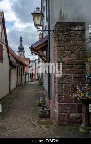 Rothenfels Germany Bavaria, Lower Franconia, Franconia,  Main-Spessart, Mainfranken - Stock Photo