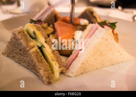 Afternoon tea served at the Capital Hotel in Central London. - Stock Photo