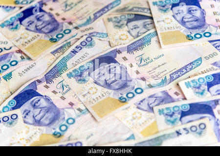 500 Naira Nigerian money banknotes - Stock Photo